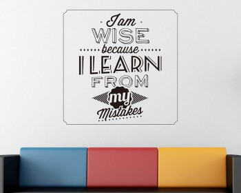 I am Wise Quotes Wall Decal Motivational Vinyl Art Stickers
