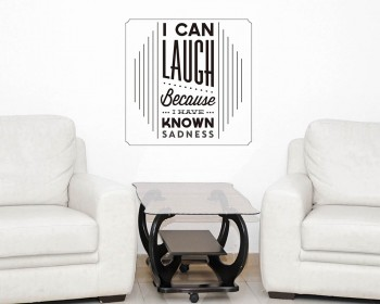 I Can Laugh Quotes Wall Decal Motivational Vinyl Art Stickers