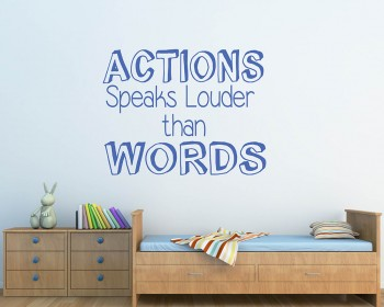Action Speaks Quotes Wall Decal Motivational Vinyl Art Stickers
