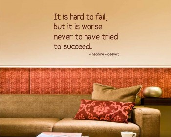 It is Hard Quotes Wall Decal Motivational Vinyl Art Stickers