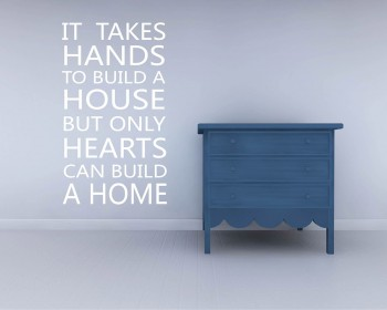 It Takes Hands Quotes Wall Decal Family Vinyl Art Stickers