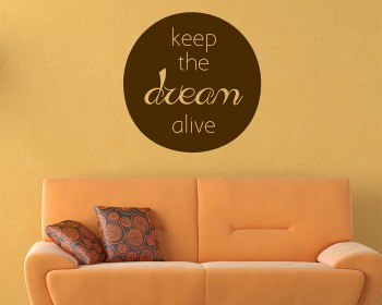 Keep the Dream Quotes Wall Decal Motivational Vinyl Art Stickers