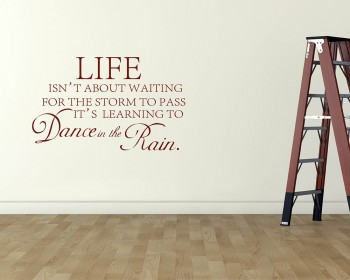 Life isn't About Quotes Wall Decal Motivational Vinyl Art Stickers