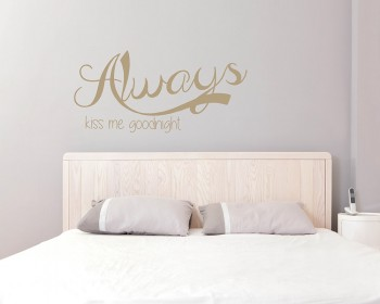 Always Quotes Wall Decal Motivational Vinyl Art Stickers