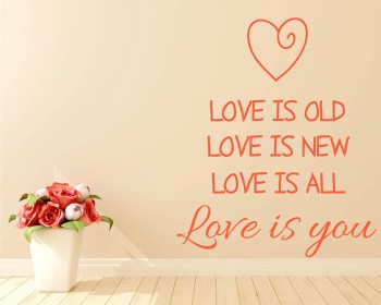 Love is Quotes Wall Decal Love Vinyl Art Stickers