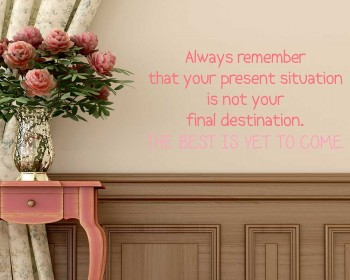 Always Remember Quotes Wall Decal Motivational Vinyl Art Stickers