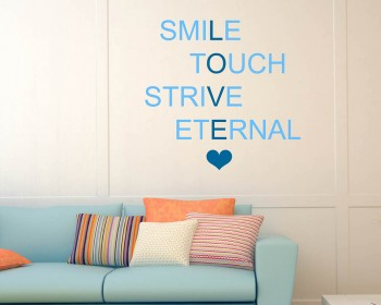 Smile Touch Quotes Wall Decal Motivational Vinyl Art Stickers