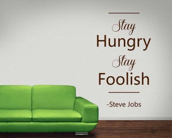 Stay Hungry Quotes Wall Decal Motivational Vinyl Art Stickers