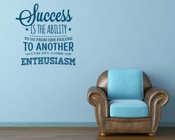 Success Quotes Wall Decal Motivational Vinyl Art Stickers