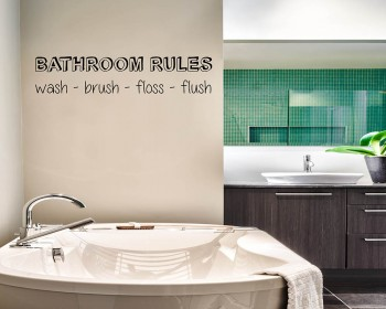Bathroom Rules Quotes Wall Decal Motivational Vinyl Art Stickers