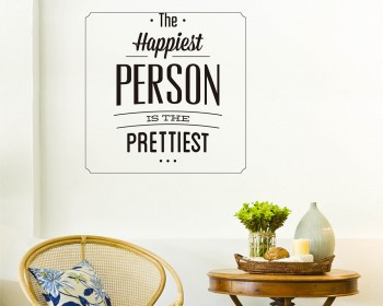 The Happiest Person Quotes Wall Decal Motivational Vinyl Art Stickers