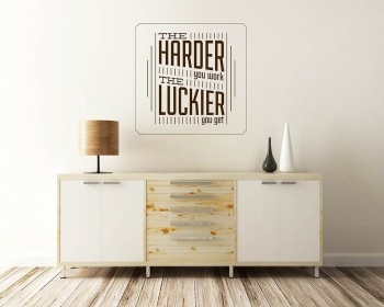 The Hard You Work Quotes Wall Decal Motivational Vinyl Art Stickers
