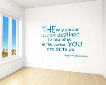The Only Person Quotes Wall Decal Motivational Vinyl Art Stickers