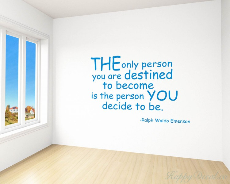 The Only Person Quotes Wall Decal