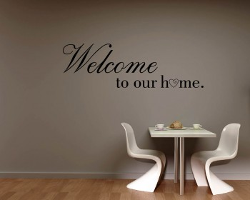 Welcome to Our Home Quotes Wall Decal Family Vinyl Art Stickers