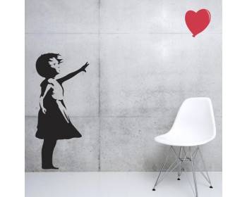 Banksy Girl Balloon Vinyl Decals Silhouette Wall Art Sticker