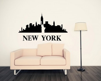 New York City Silhouette Vinyl Decals Modern Wall Art Sticker