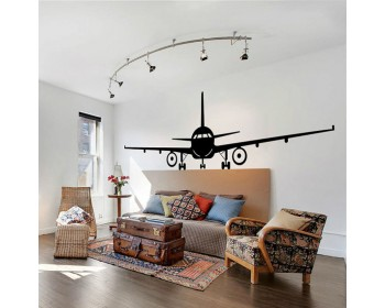 Airplane Vinyl Decals Silhouette Modern Wall Art Sticker
