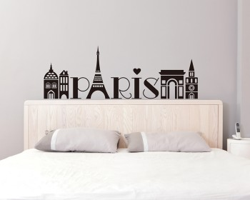 Paris Vinyl Decals Silhouette Modern Wall Art Sticker