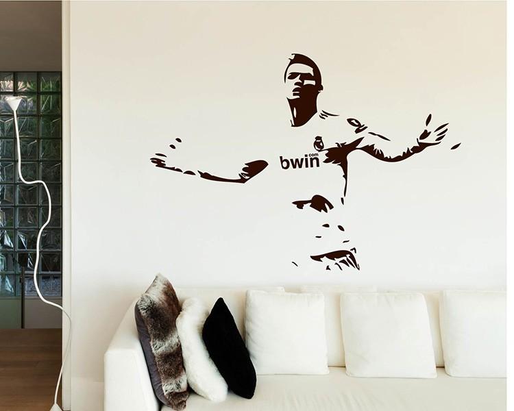 famous football star vinyl decals silhouette modern wall art sticker