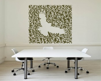 Bird Flock Vinyl Decals Silhouette Modern Wall Art Sticker