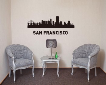 City of USA Vinyl Decals Silhouette Modern Wall Art Sticker