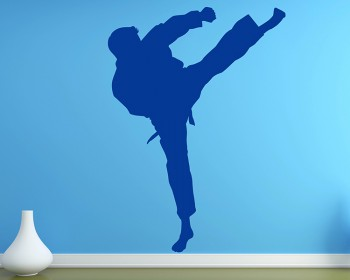 Chinese Kung Fu Vinyl Decals Silhouette Modern Wall Art Sticker