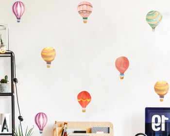 Hot Air Balloon Watercolor Wall Sticker