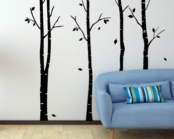 Birch Tree Wall Decal Vinyl Tree Art Stickers