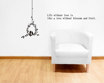 Loving Birds with Quotes Wall Decal Vinyl Tree Art Stickers
