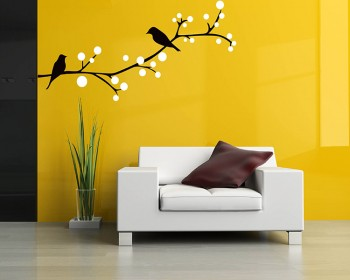 Birds on the Branch Wall Decal Vinyl Tree Art Stickers