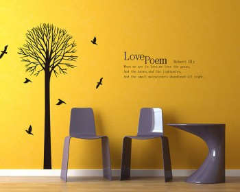 Tree with Love Quotes Wall Decal Vinyl Tree Art Stickers