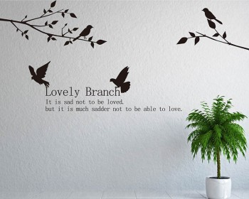 Love Branch with Birds Wall Decal Vinyl Tree Art Stickers