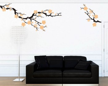 Plum Blossom Wall Decal Vinyl Tree Art Stickers