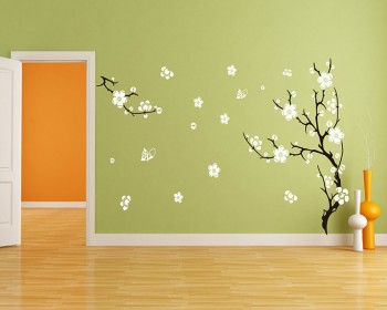 Plum Blossom Tree Wall Decal Vinyl Tree Art Stickers