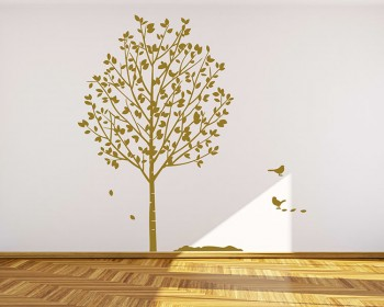 Popular Tree with Birds Wall Decal Vinyl Tree Art Stickers