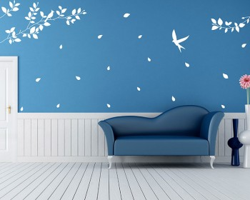 Branch with Birds Wall Decal Vinyl Tree Art Stickers