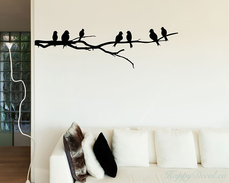 Branch Wall Decal With Birds Part 49