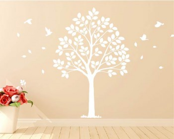 Linden Tree Wall Decal Vinyl Tree Wall Art Stickers