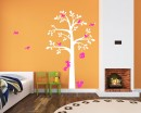 Tree  with Birds Cage & Squirrel Wall Decal (Can install Shelves)