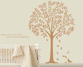 Linden Tree Wall Decal with Quotes Vinyl Tree Wall Art Stickers