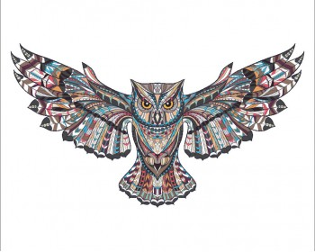 Owl Wall Stickers with Detailed Pattern