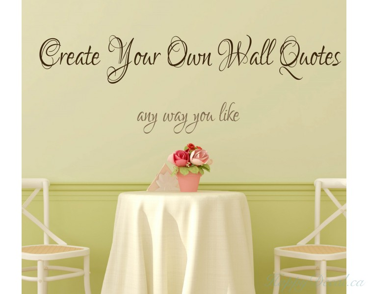 Personalized Wall Decal Canada