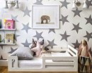 Star Pattern Wall Decal Nursery Modern Vinyl Sticker