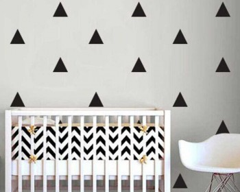 One Set of Triangle Pattern Wall Decals