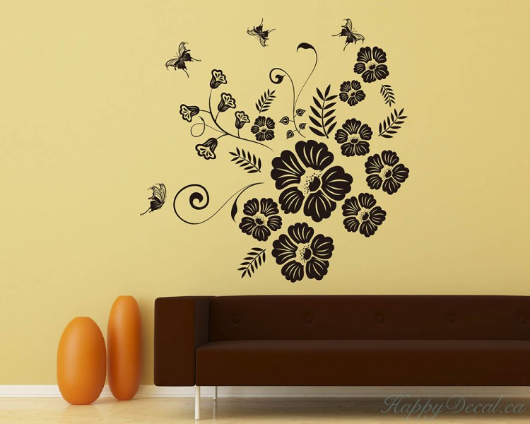 Large Floral Wall Decals - Elitflat