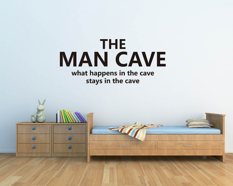 The Man Cave Quotes Wall Decal Motivational Vinyl Art Stickers
