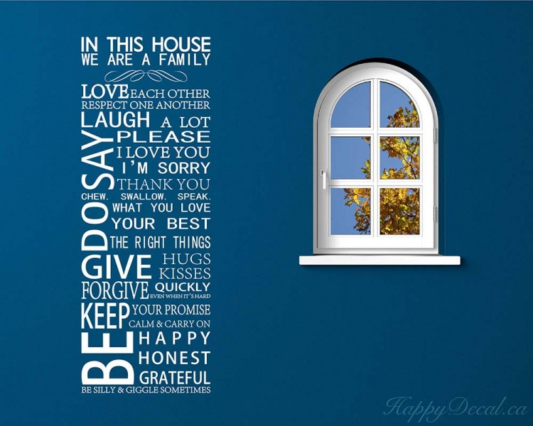 in this house quotes wall decal family vinyl art stickers in this house quotes wall decal family vinyl art stickers