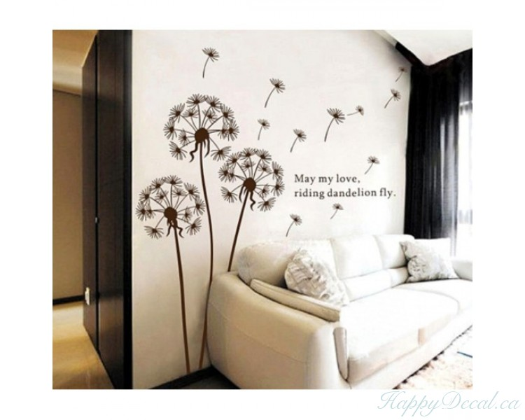 Dandelion Wall Decal With Quotes Vinyl Decals Modern Wall